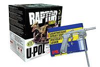 Защитное покрытие RAPTOR U-POL RLB/S4/GUN ПРОМОКОМПЛЕКТ ЧЕРНЫЙ (4X750+ОТВ+ПИСТОЛЕТ), фото 1