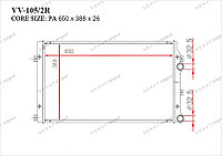 Радиатор основной Great Skoda Rapid. I пок. 2012-Н.В 1.9TDi 1K0121251AT