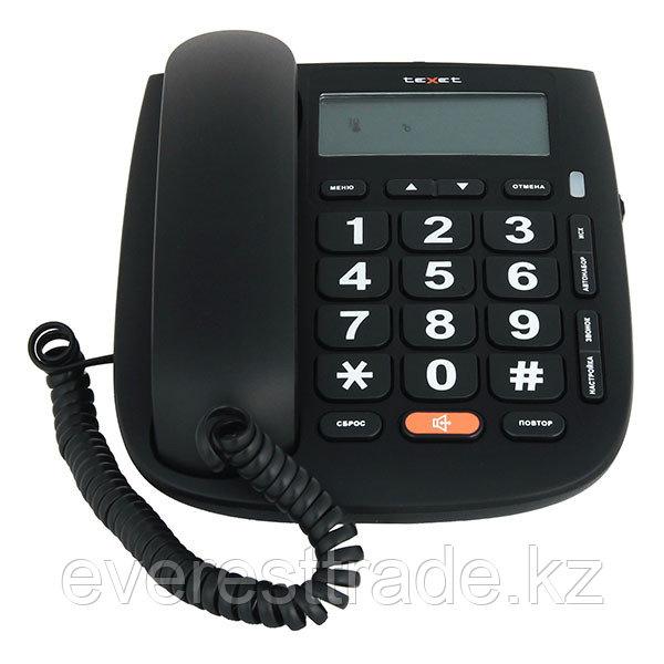 Телефон проводной Texet ТХ-260 черный