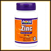 NOW. Zinc Gluconate 50 mg 100 tabs