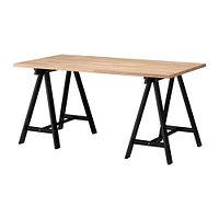 Стол письменный ГЕРТОН/ОДВАЛЬД бук черный ИКЕА, IKEA
