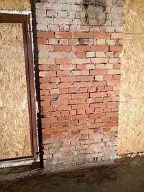 Очистка кирпичной стены от солевых отложений, объект Суши бар 1
