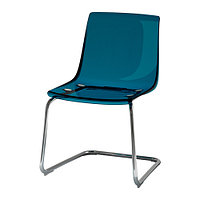 Стул ТОБИАС синий хромированный ИКЕА, IKEA, фото 1