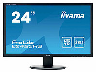 "IIYAMA 24"" E2483HS-B1 черный {TN 1920х1080, nonGLARE, 250cd/m2, H170°/V160°, 5М:1, 2ms, VGA, DVI, HDMI, Tilt, Speakers, 3Y}"