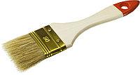 Кисть плоская с деревянной ручкой 63мм