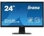 "IIYAMA 24"" B2483HS-B1 черный {TN+film LED 1920x1080  2ms 16:9 DVI HDMI M/M матовая HAS Pivot 1000:1 300cd 160гр/160гр D-Sub}"