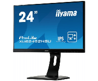 "IIYAMA 23.8"" XUB2492HSU-B1 черный {IPS 4ms 16:9 1920х1080 250cd/m2, H178°/V178°, 1000:1, 5М:1, 16,7M Color, 5ms, VGA, HDMI, DP, USB-Hub}"
