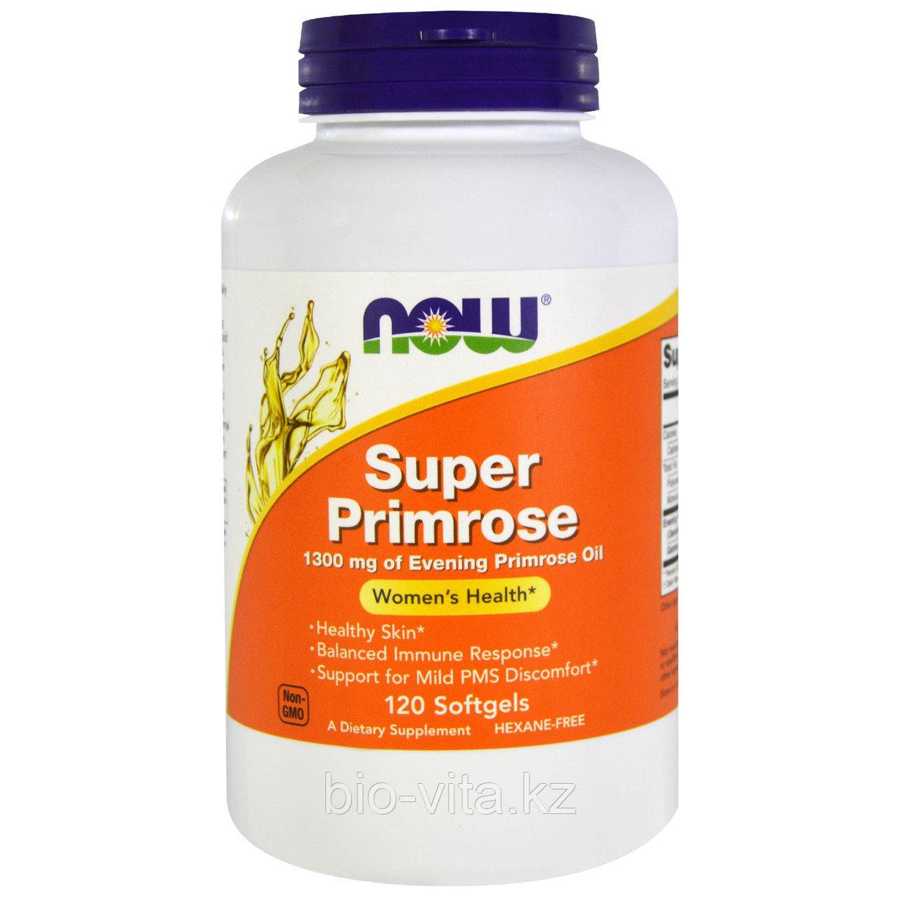 Now Foods, Супер примула 1300 мг. в 1 капсуле, масло примулы вечерней, 120 капсул. БЕСПЛАТНАЯ ДОСТАВКА