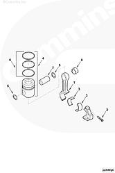 Кольца поршневые STD (комплект на 1 цилиндр) Cummins 6BT 4BT 3802421 3802230 3802050 3802056