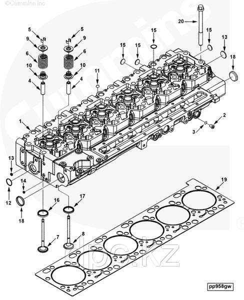 Клапан впускной Cummins ISL 310-375 л.с. Е-3 3942588 3800340 3970727 4089761