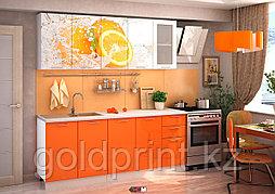 УФ Печать на Кухонных гарнитурах Апельсин