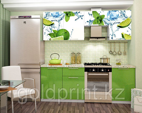 УФ Печать на Кухонных гарнитурах Лайм, фото 2