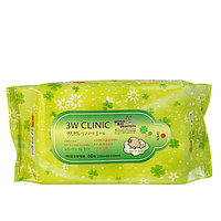 3W Clinic Green Tea Soft & Clean for Baby Wet Tissue Влажные салфетки 60 шт