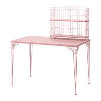 Стол с дополнительным модулем ФАЛЬКХОЙДЕН розовый ИКЕА, IKEA