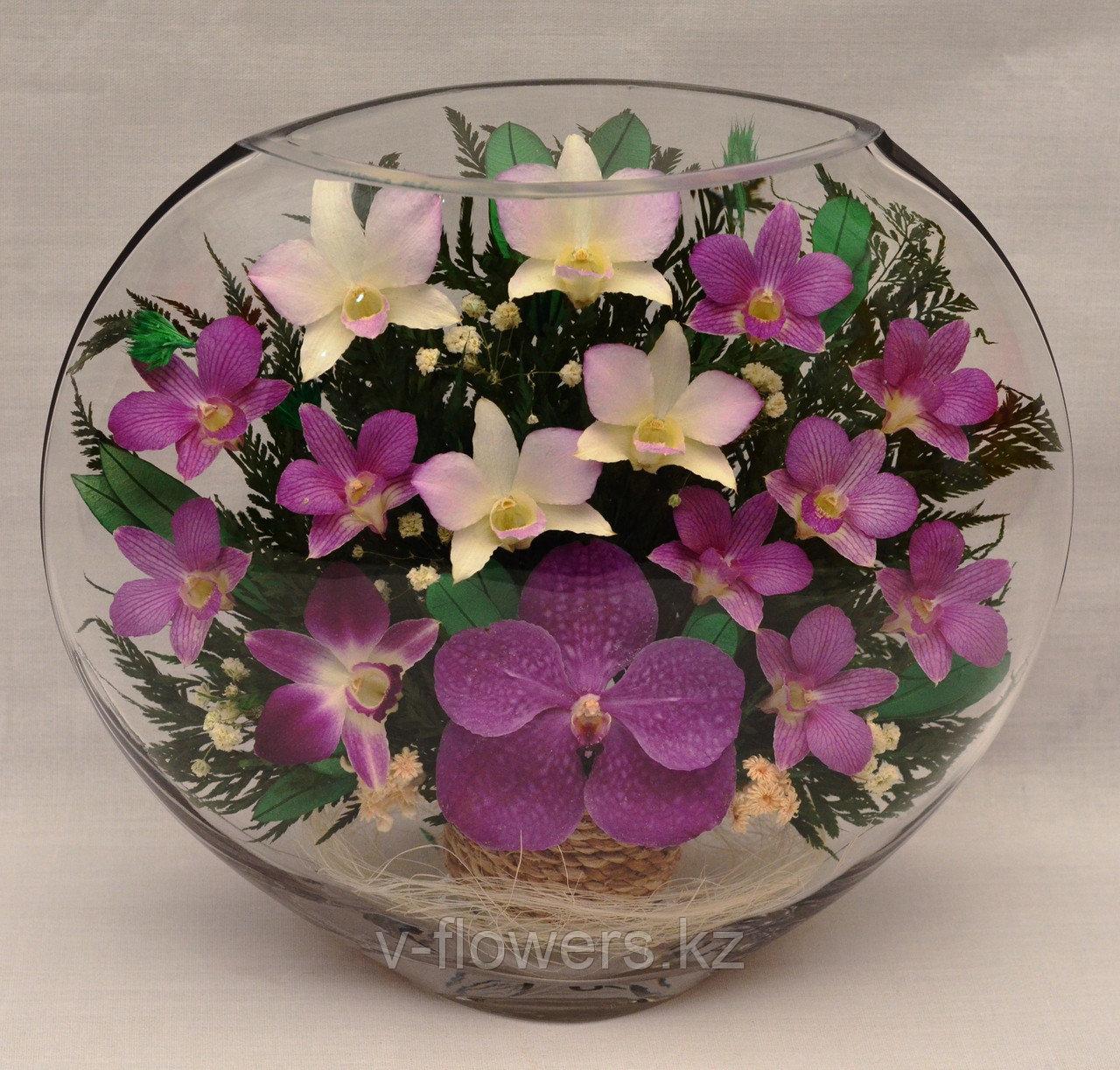 Живые цветы в стекле ELO-08