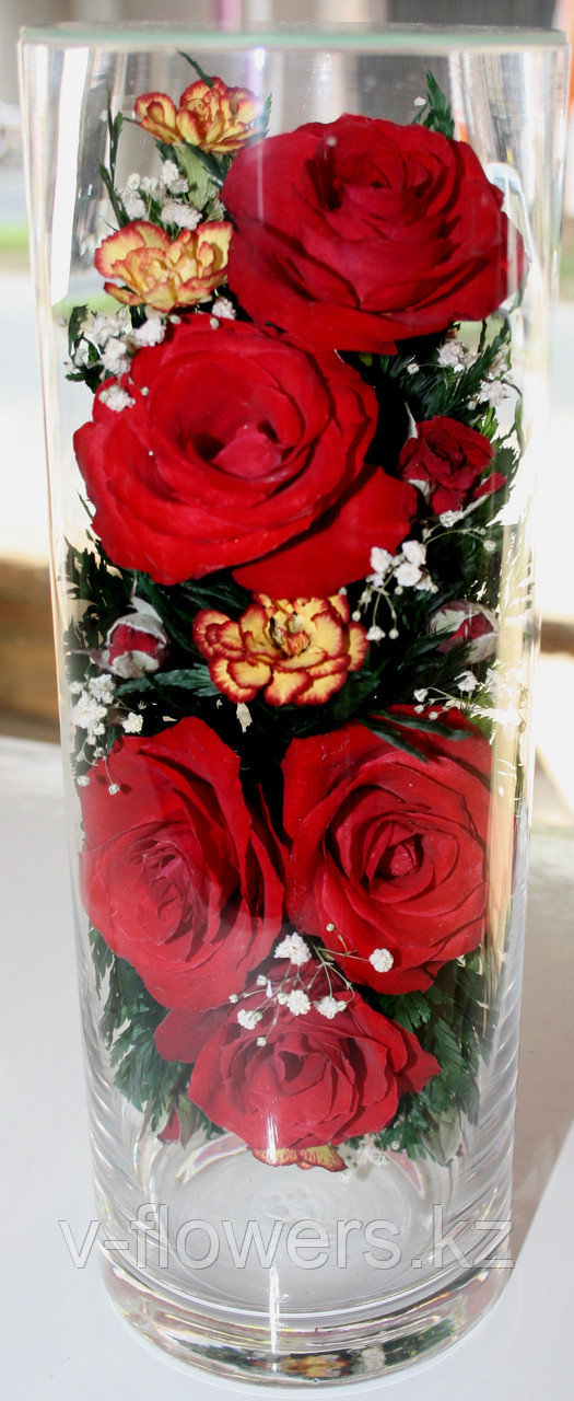 Живые цветы в стекле CLR