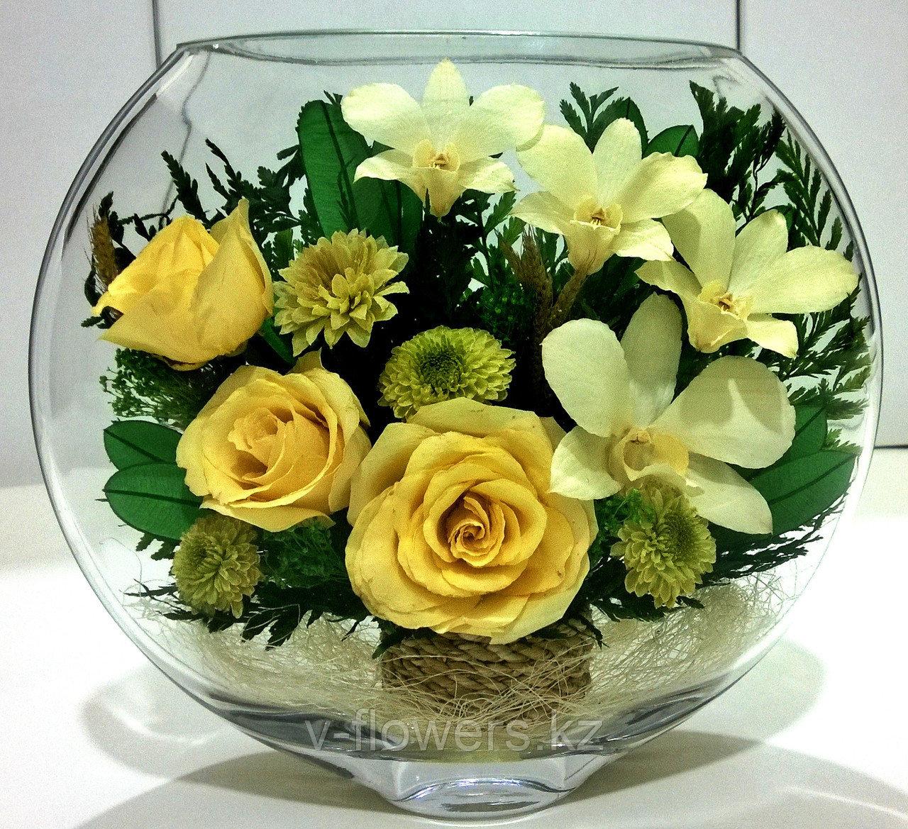 Живые цветы в стекле ESМ-06