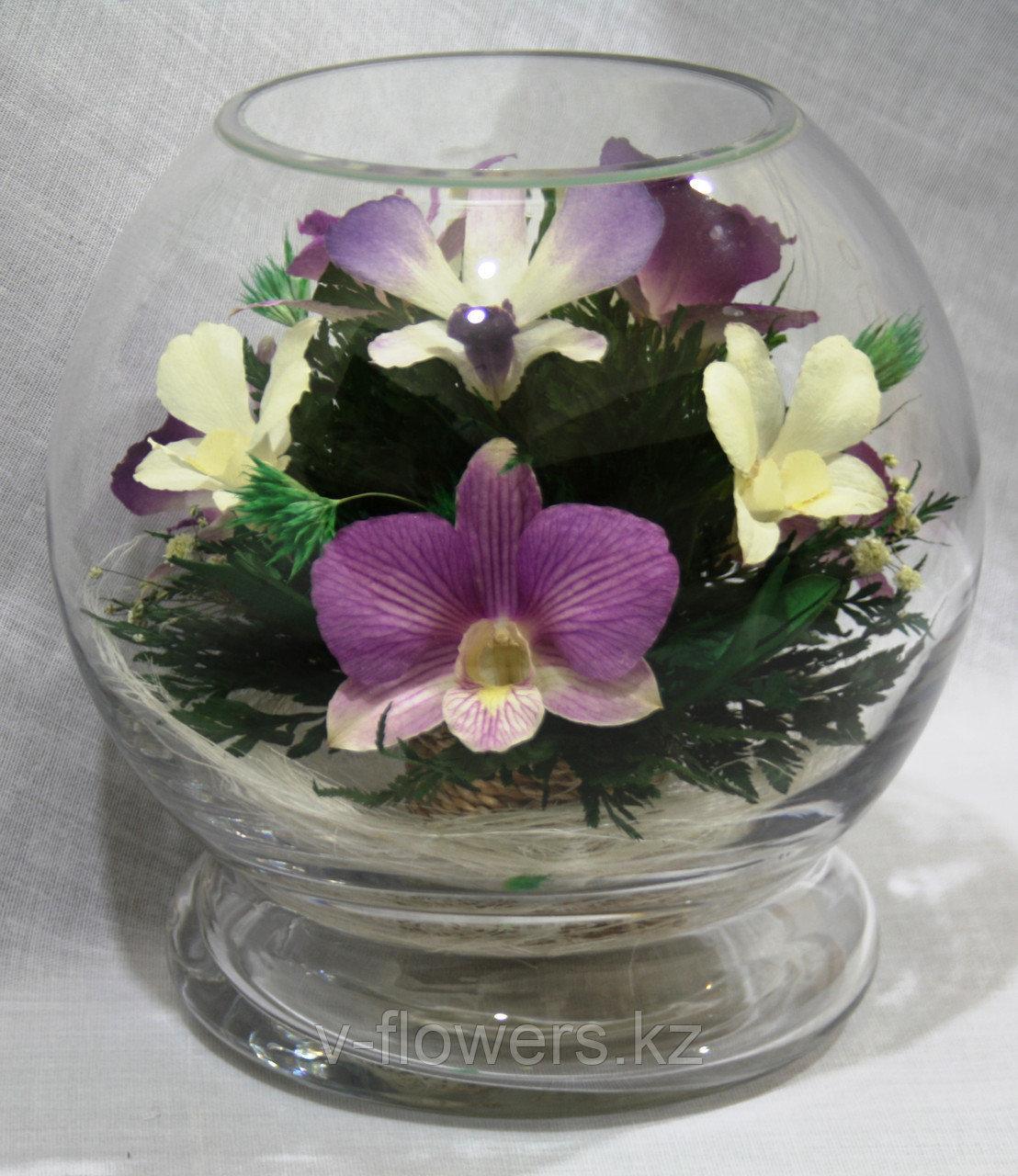 Живые цветы в стекле MMO