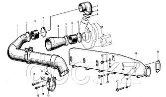 Патрубок турбокомпрессора впускной Weichai WD615  612600110824\612600111543