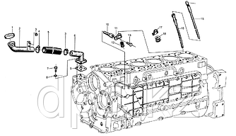 Уплотнительная пластина трубки масло приёмной Weichai WD615  614010086