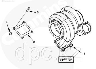 Прокладка турбины Cummins QSK23 4095974