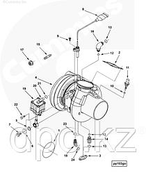 Прокладка трубки обратки масла с турбины Cummins ISX QSX 3101268