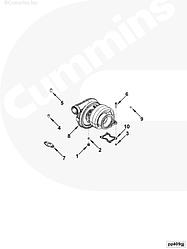 Прокладка турбины Cummins QSK19 3081824 4096160