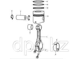 Вкладыш шатуна нижний Weichai WD615 Евро-3  VG1540030016