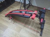 Cкамья для пресса с гантелями и эспандером, фото 1