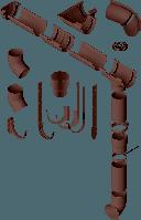 Водосточная система Альта-Профиль коричневая, фото 1