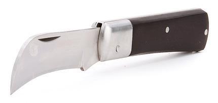 Нож монтерский складной с изогнутым лезвием ™КВТ