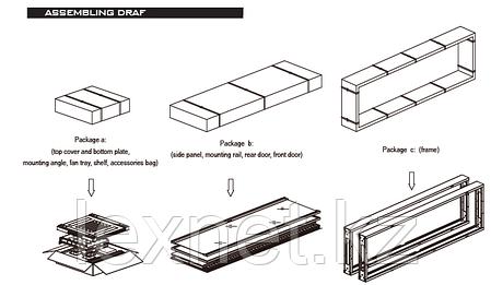 Шкаф напольный LinkBasic NCB32-68-BAA-C 32U, 600*800*1600, фото 2