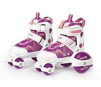 Детские роликовые коньки-квады, р. 30-33, фиолетовые, фото 1