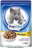 PreVital Pouch Cat Classic 100 г Пауч для кошек, соус Курица