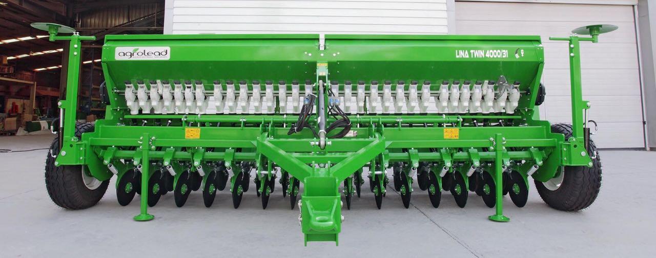 Сеялка зерновая 2-х дисковая с прикатывающими катками Agrolead Lina 2500-5000 (Турция)