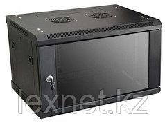 Шкаф настенный 6U, 600*600*367, цвет чёрный