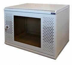 Шкаф настенный МиК 6U, 600*600*360, BASIS, серый, дверь-перфорация+стекло