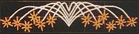 Горизонтальное световое панно Фейерверк 45 x 200 см