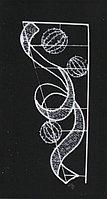 Вертикальное световое панно на опоры Шары и лента 150*65 см