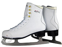 Коньки ледовые Vik Max Pro ярко-белые с мехом р-р 36, фото 1
