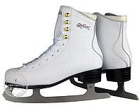 Коньки ледовые Vik Max Pro ярко-белые с мехом р-р 41, фото 1