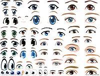 Наклейки глаза разные для фигур из шаров , фото 1