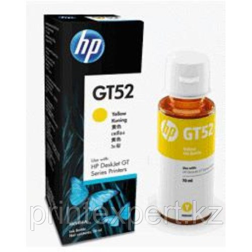 HP M0H56AE HP GT52 Yellow Original Ink Bottle  for DJ GT5810/5820 , up to 8000 pages ;