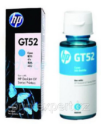 HP M0H54AE HP GT52 Cyan Original Ink Bottle for DJ GT5810/5820 , up to 8000 pages ;, фото 2