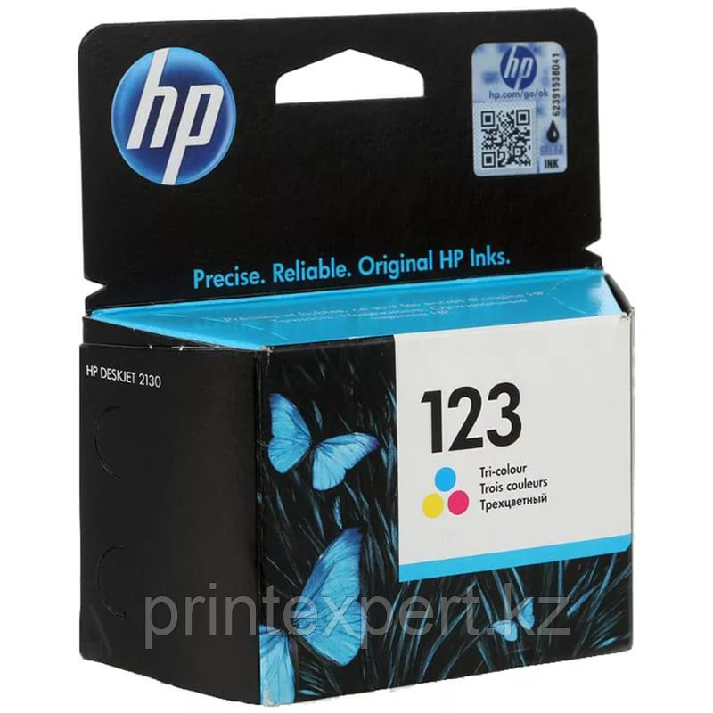 HP F6V16AE HP 123 Tri-color Ink Cartridge for MFY DeskJet 2130 up to 100 pages for  МФУ HP DeskJet 2130 All-in