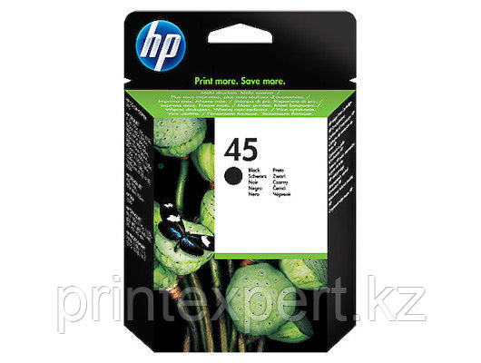 HP 51645AE Large Black Inkjet Print Cartridge №45 for DeskJet 8xx/11xx/16xx, 42 ml, up to 830 pages, 5%. ;