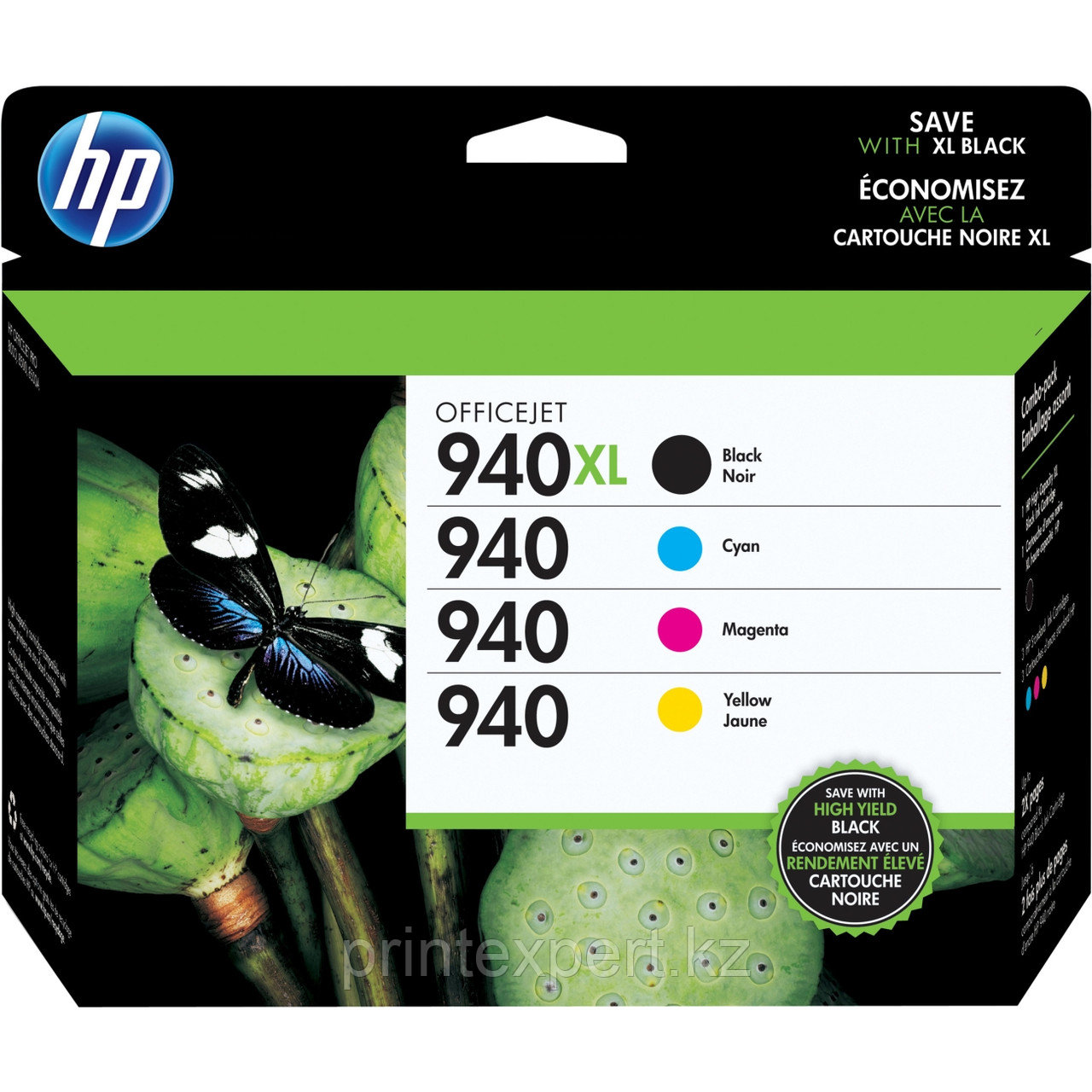 HP C2N93AE Ink Cartridge Combo Pack №940XL for Officejet Pro 8000, up to 1400 (2200) pages.  4-pack High Yield