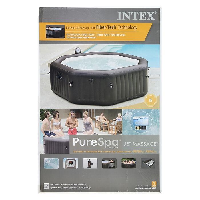 SPA Бассейн надувной Intex Jet and Bubble Massage, диаметр 168 см
