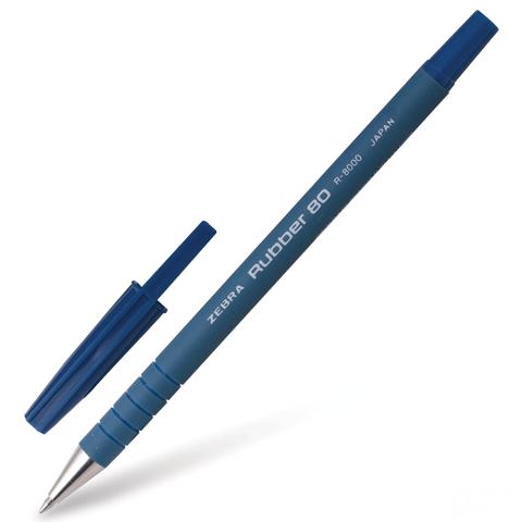 Ручка шариковая ZEBRA RUBBER 80 0,5мм, синяя