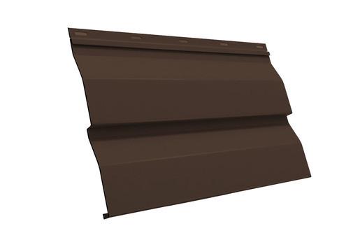 Сайдинг металлический Ral8017 (коричневый глянец)